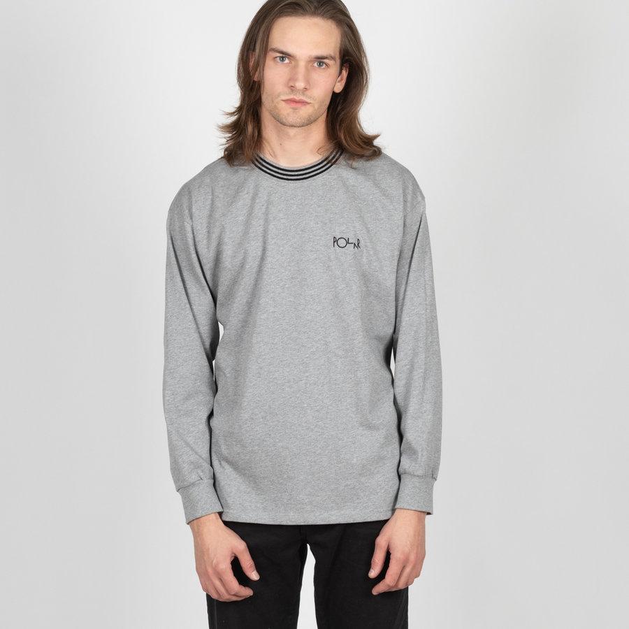 Šedé pánské tričko s dlouhým rukávem Polar Skate Co.