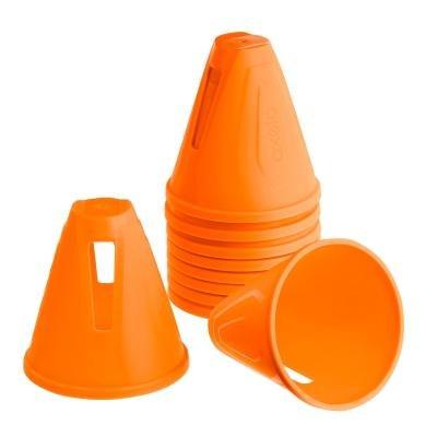 Oranžový tréninkový kužel Oxelo - 10 ks