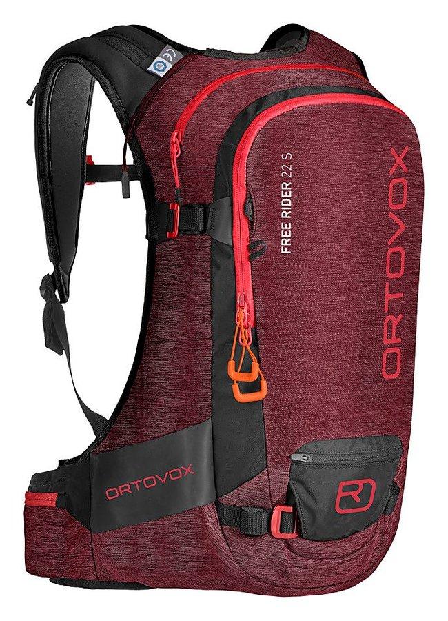 Červený skialpový batoh Ortovox - objem 22 l