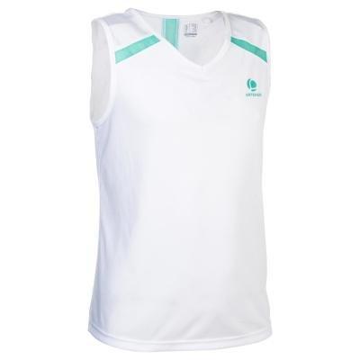 Bílé dívčí tenisové tílko Artengo - velikost 128