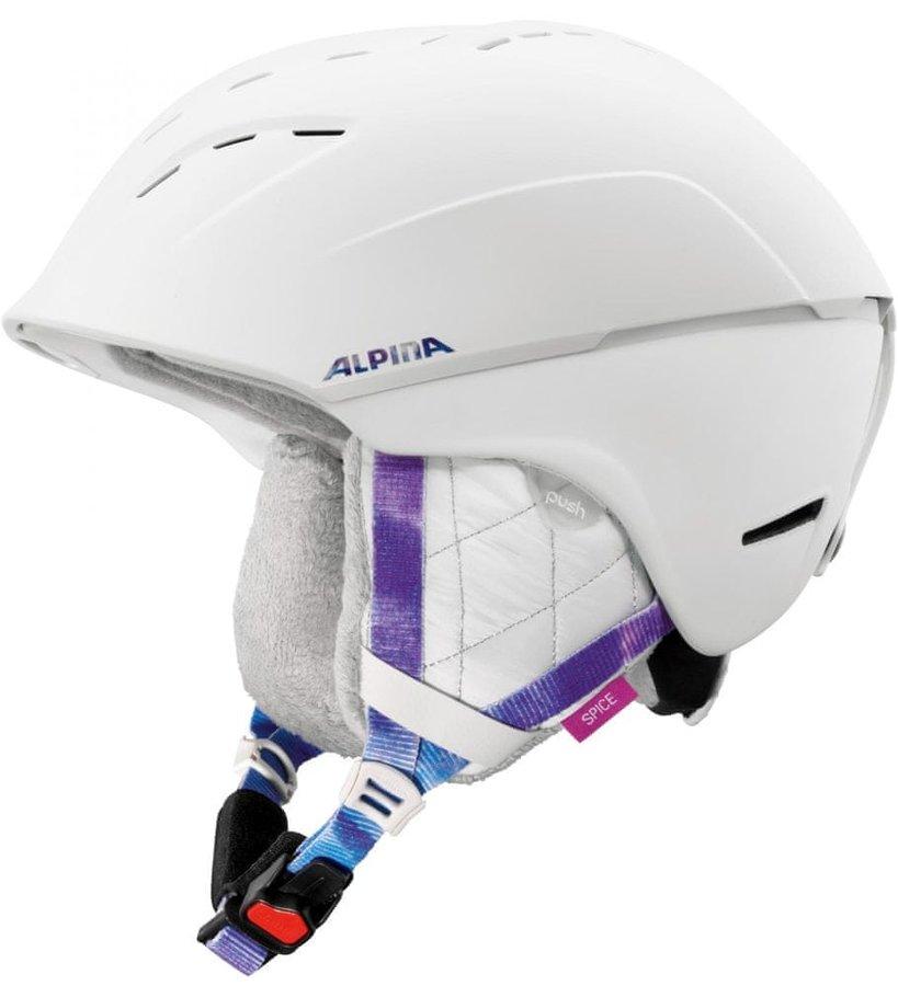 Bílá dámská lyžařská helma Alpina Sports - velikost 55-59 cm