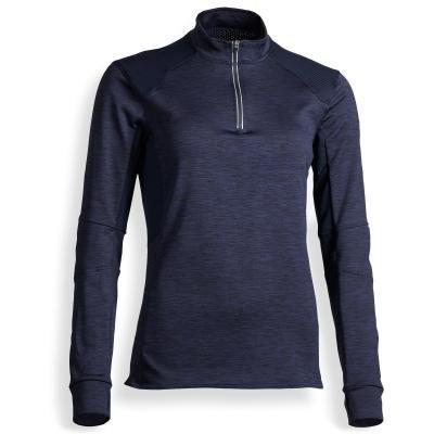 Černé dámské jezdecké tričko Fouganza