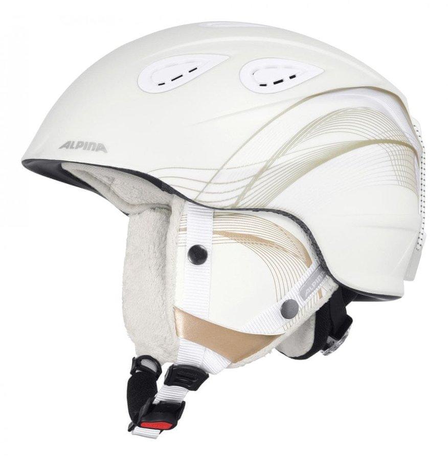 Bílá dámská lyžařská helma Alpina Sports - velikost 57-61 cm
