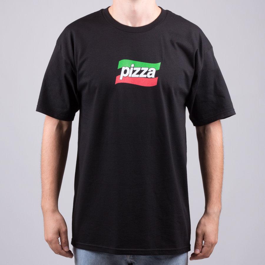 Černé pánské tričko s krátkým rukávem Pizza Skateboards - velikost S