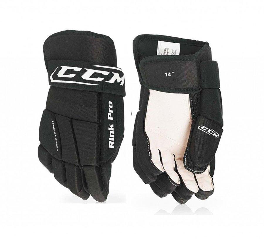 Černé hokejbalové rukavice CCM - velikost XL