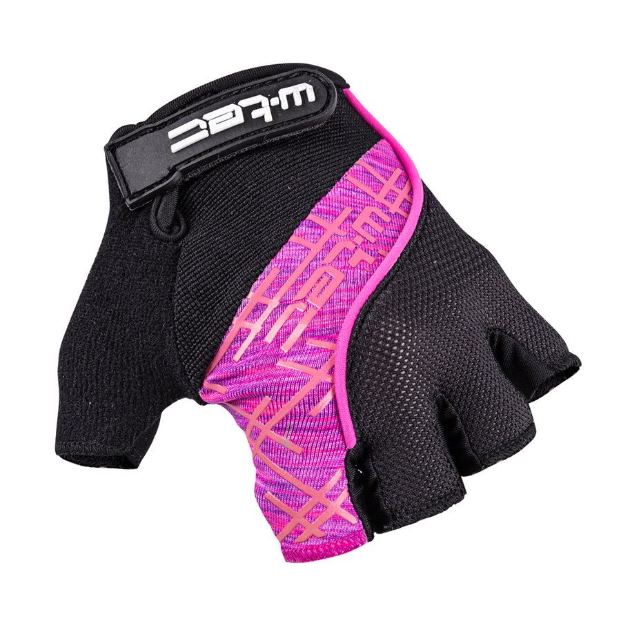 Černo-růžové dámské cyklistické rukavice Karolea AMC-1022-18, W-TEC