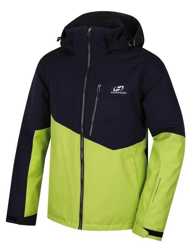 Černo-zelená pánská lyžařská bunda Hannah