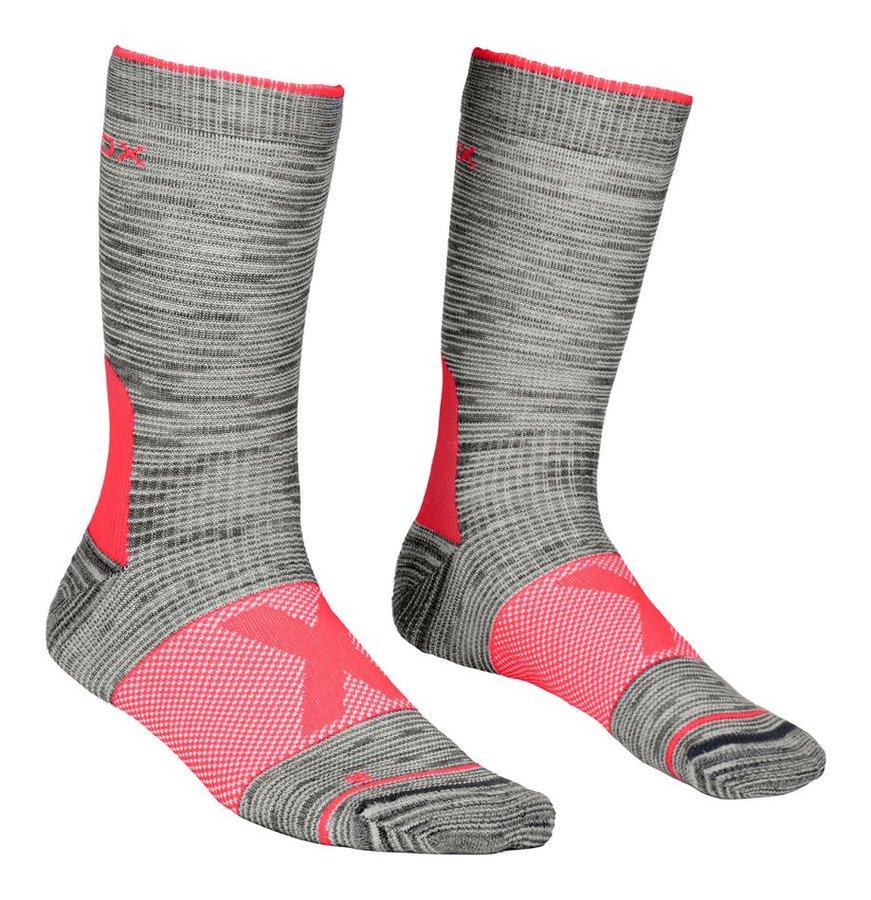 Růžovo-šedé dámské trekové ponožky Ortovox