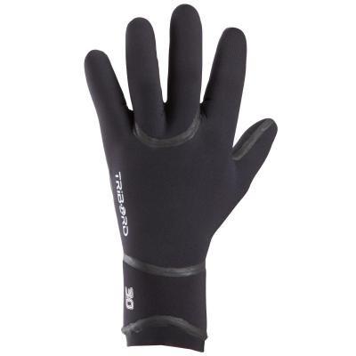 Černé neoprenové rukavice Olaian