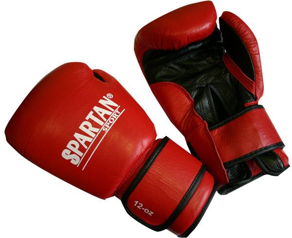 Červené boxerské rukavice Spartan