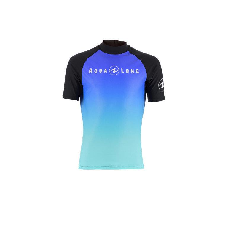 Modré pánské lycrové tričko Frozen blue, Aqualung