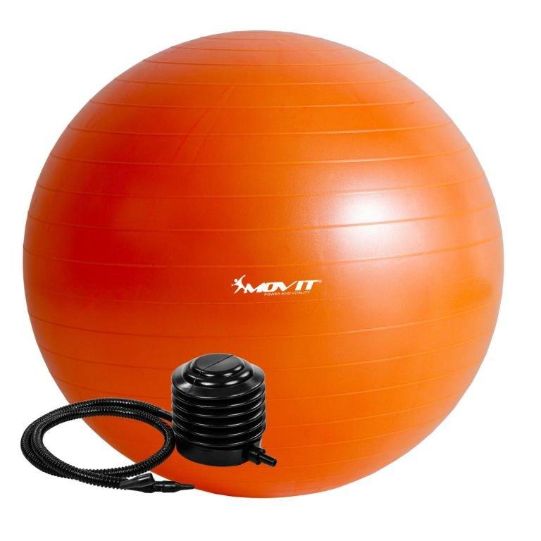 Oranžový gymnastický míč s pumpou Movit