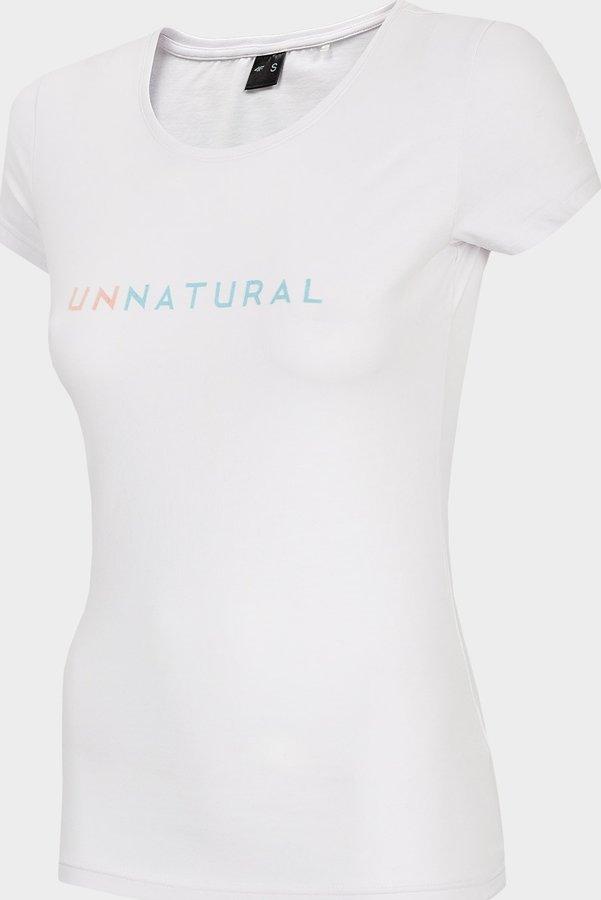 Bílé dámské tričko s krátkým rukávem 4F - velikost M