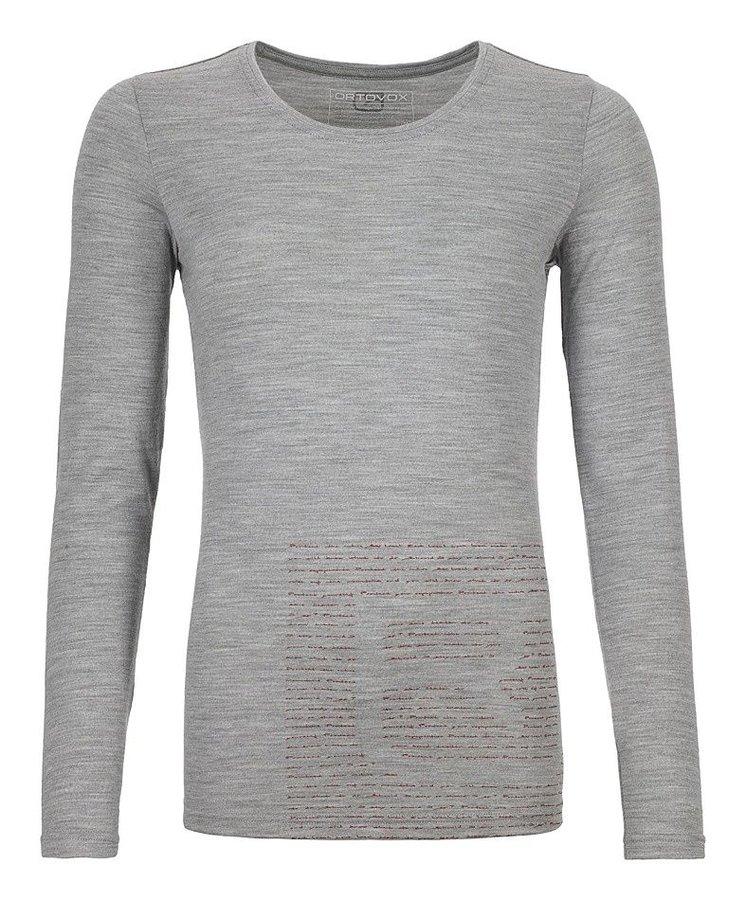 Šedé dámské termo tričko s dlouhým rukávem Ortovox