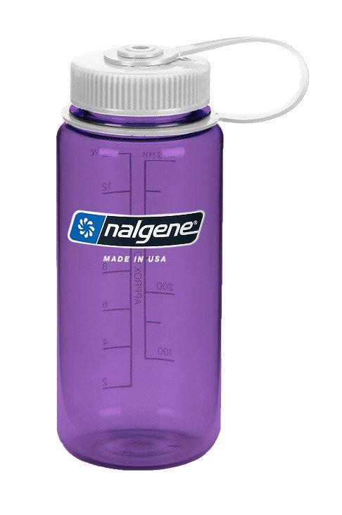 Fialová láhev na pití Wide Mouth, Nalgene - objem 0,5 l