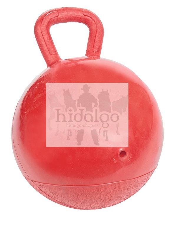 Červený míč pro koně HKM - průměr 25 cm