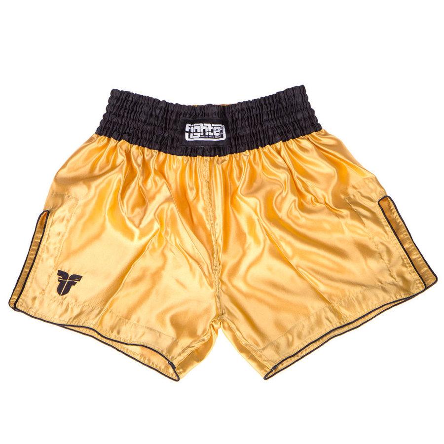 Černo-zlaté thaiboxerské trenky Fighter