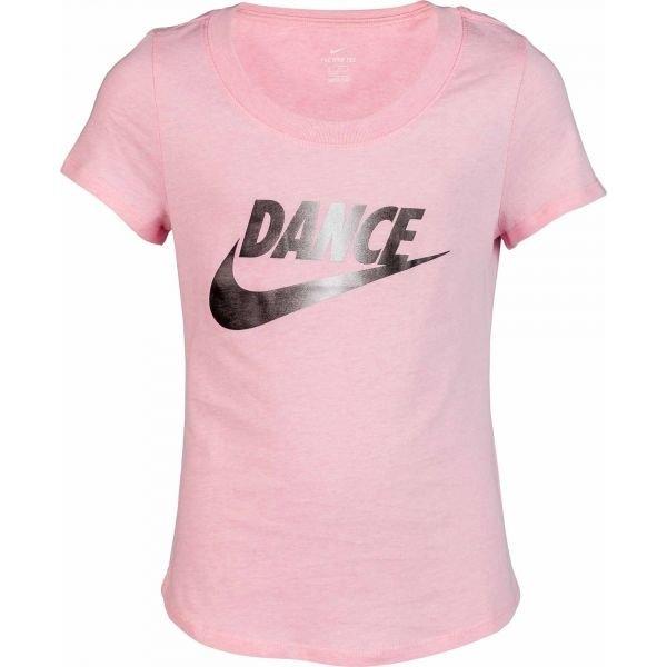 Růžové dívčí tričko s krátkým rukávem Nike