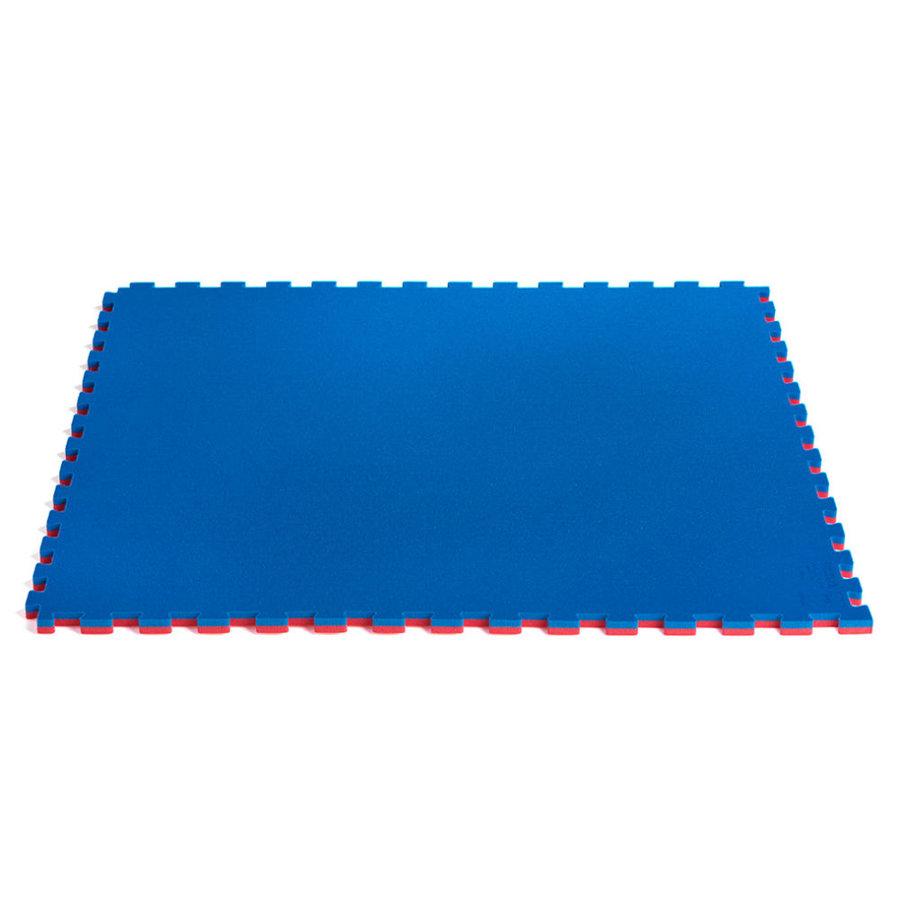 Tatami - ProGame tatami karate WKF Approved - modrá/červená 2 cm - modrá - velikost 100 x 100 x 2cm