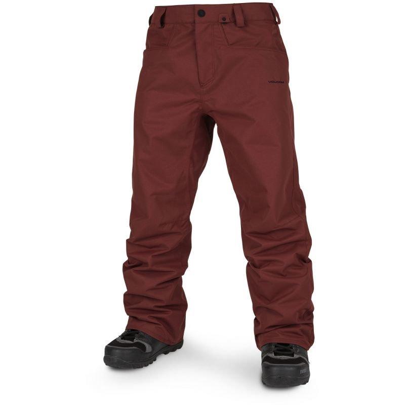 Červené pánské snowboardové kalhoty Volcom