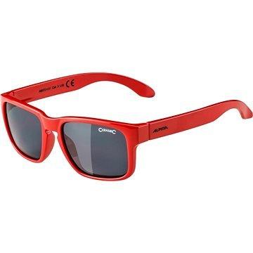 Červené cyklistické brýle Alpina