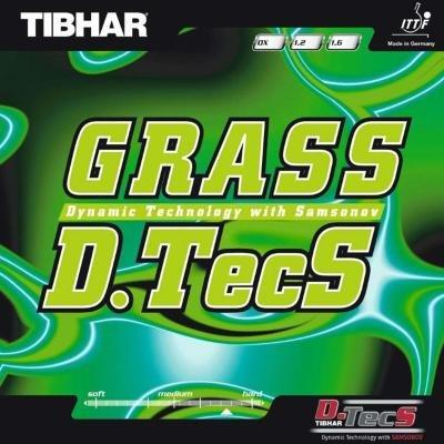Červený potah na pálku Grass D.TecS, Tibhar - tloušťka 1,3 mm