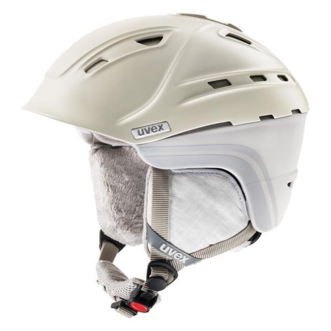 Béžovo-šedá dámská lyžařská helma Uvex