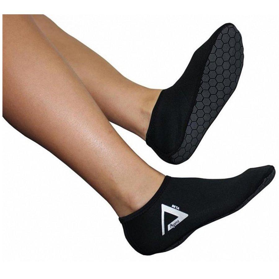 Černé neoprenové ponožky Beta, Agama - tloušťka 1,5 mm