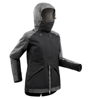 Černo-šedá dámská snowboardová bunda Wed'ze