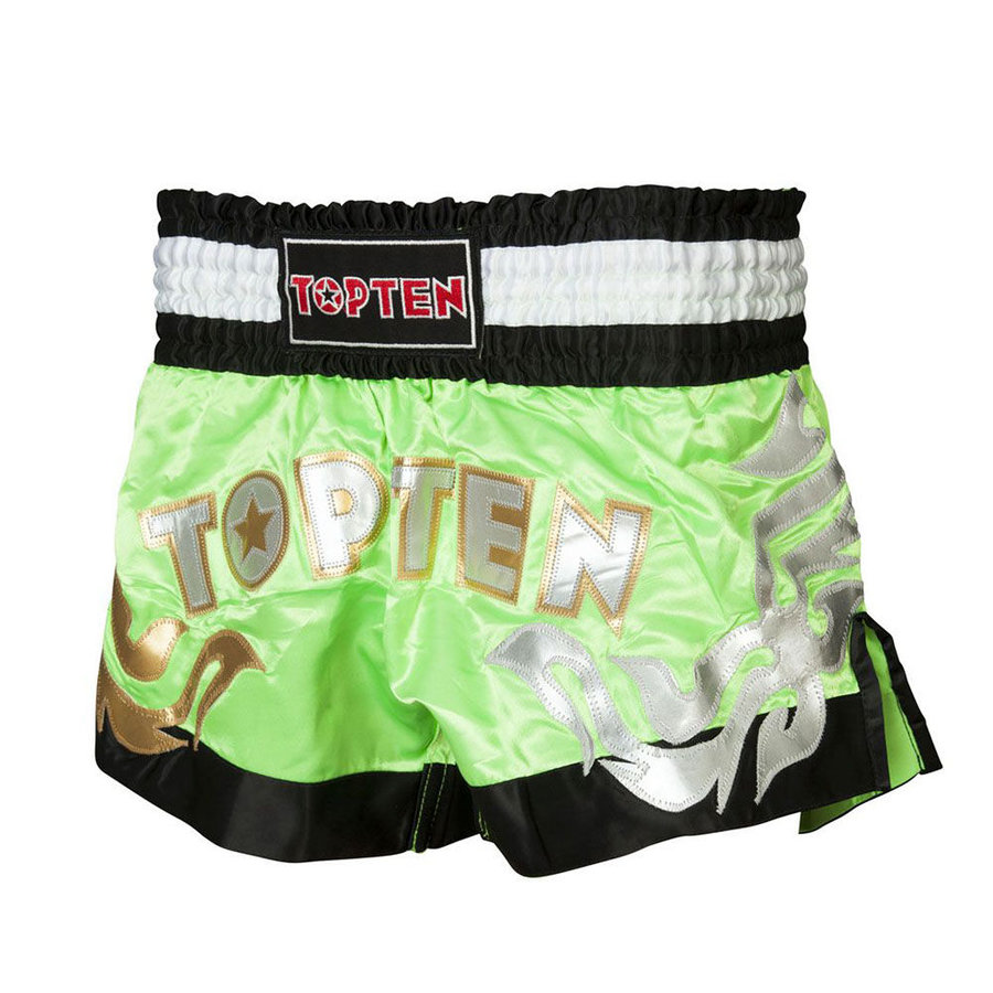 Zelené thaiboxerské trenky Top Ten - velikost XL