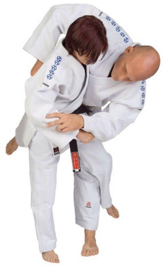 Bílé kimono na judo Hayashi - velikost 195