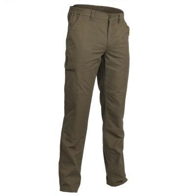 Khaki lovecké kalhoty Solognac - velikost S