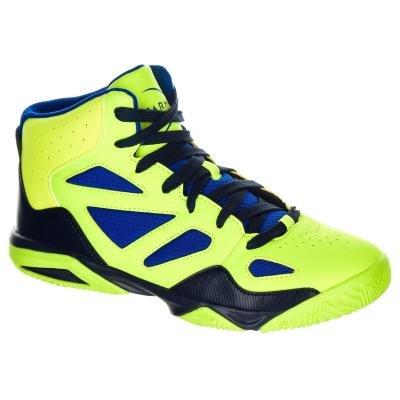 Modro-žluté dětské basketbalové boty Shield 300, Tarmak - velikost 33 EU