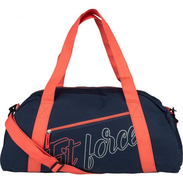 Modrá dámská sportovní taška Fitforce - objem 27 l