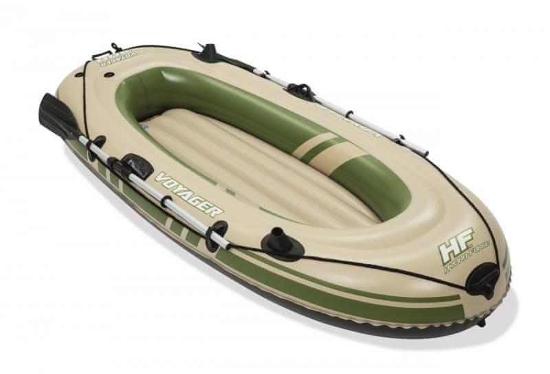 Zelený rybářský člun pro 2 osoby VOYAGER 300, Bestway