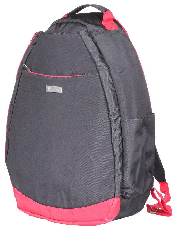 Růžovo-šedý tenisový batoh Wilson