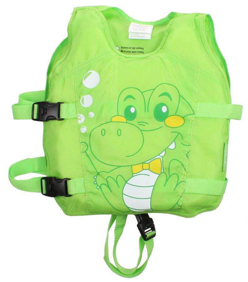 Zelená polyesterová dětská plavecká vesta Waimea - velikost 3-6 let