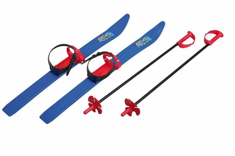 Modrá dětská sada na sjezdové lyžování Spartan - délka 76 cm
