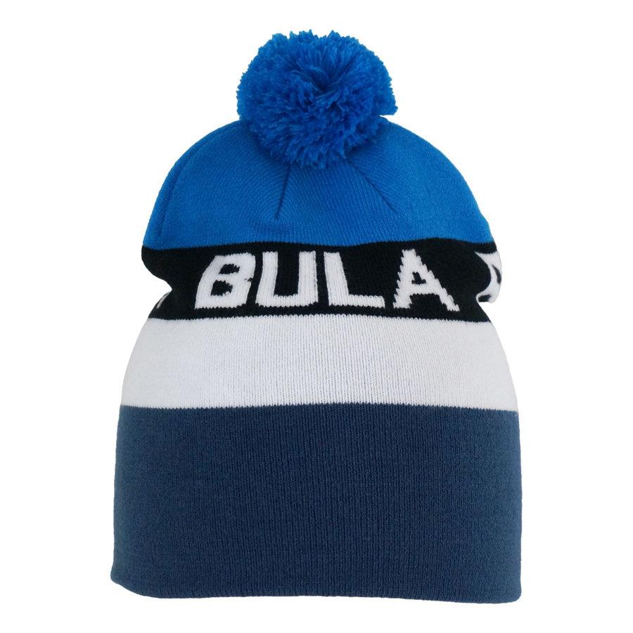 Bílo-modrá dětská zimní čepice Bula