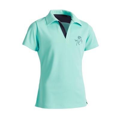 Modré dívčí jezdecké tričko Fouganza - velikost 115