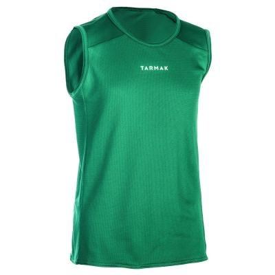 Zelený dětský basketbalový dres T100, Tarmak - velikost 151
