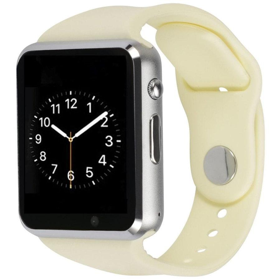 Bílé analogové chytré hodinky Squarz, Smartomat
