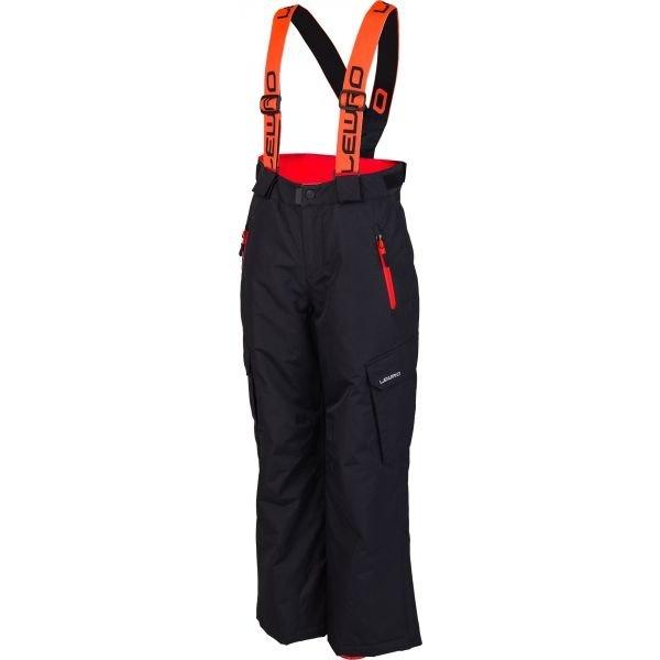 Černé dětské snowboardové kalhoty Lewro - velikost 116-122