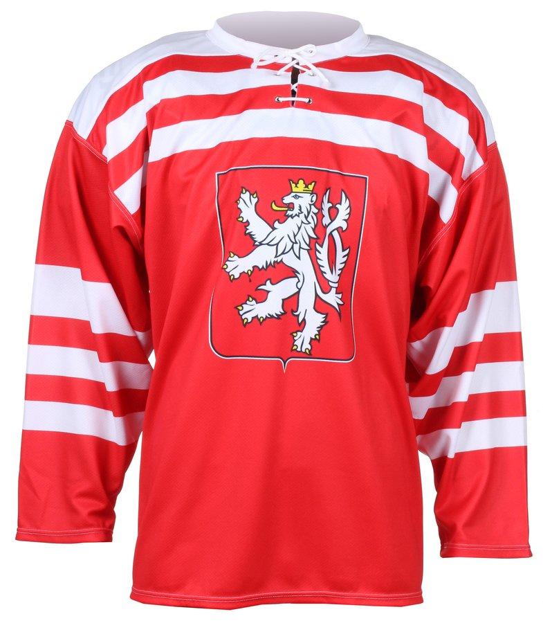 Červený hokejový dres Replika ČSR 1947, Merco