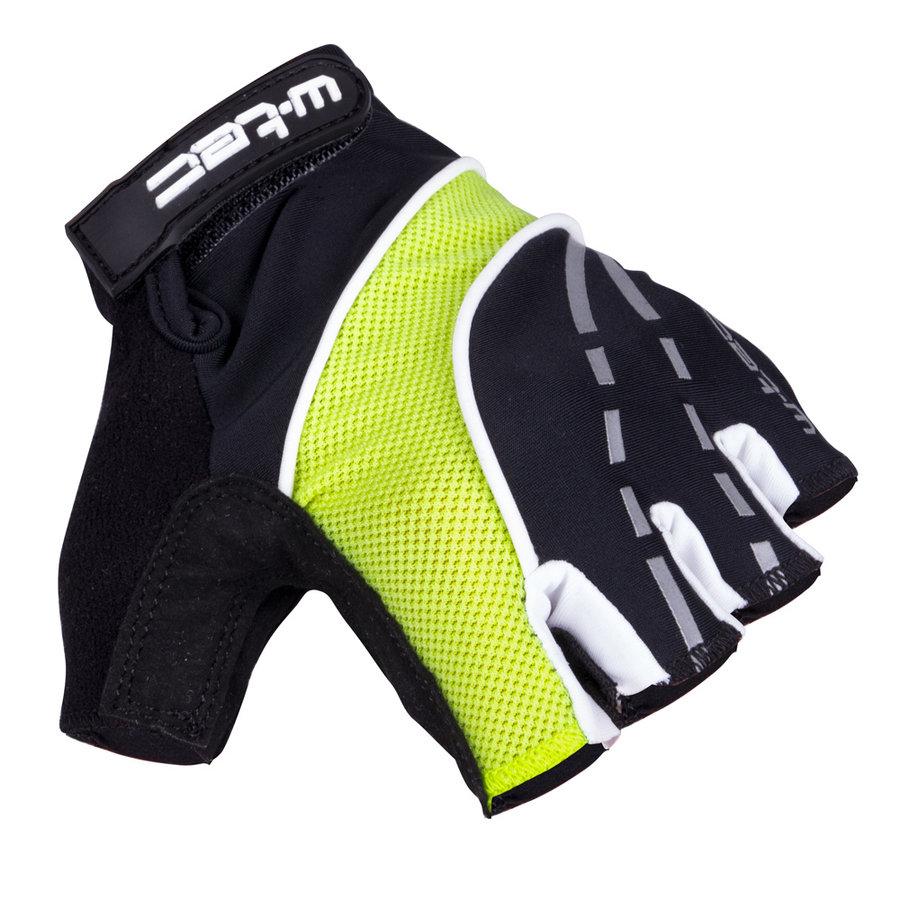 Černo-žluté pánské cyklistické rukavice Baujean AMC-1036-17, W-TEC