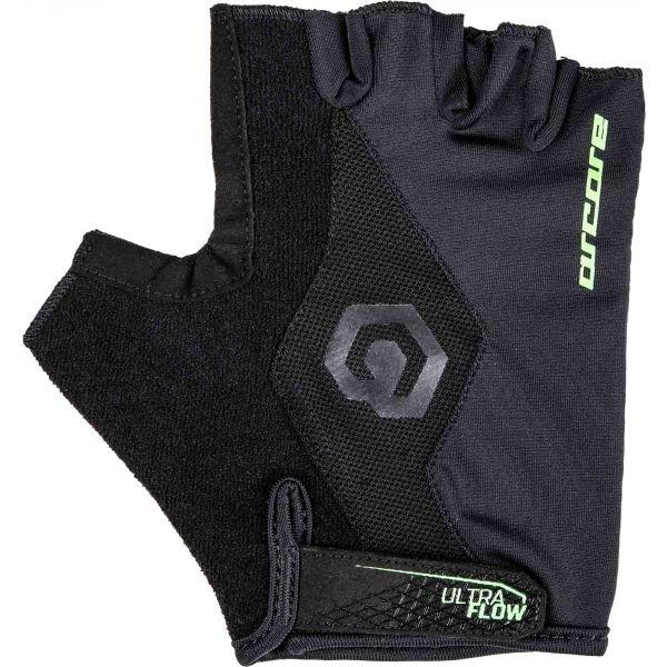 Černo-šedé cyklistické rukavice Arcore - velikost L