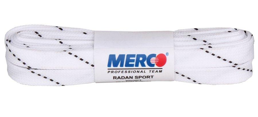 Bílé tkaničky do hokejových bruslí Merco