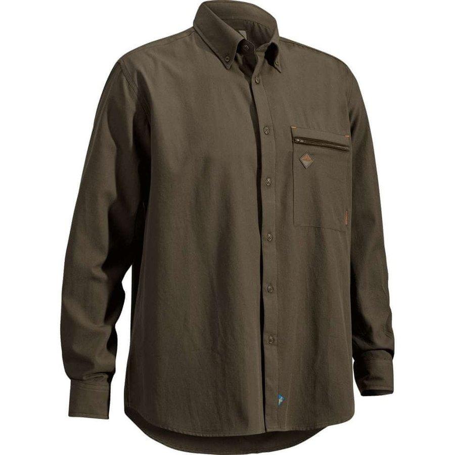 Hnědá pánská lovecká košile s dlouhým rukávem Swedteam