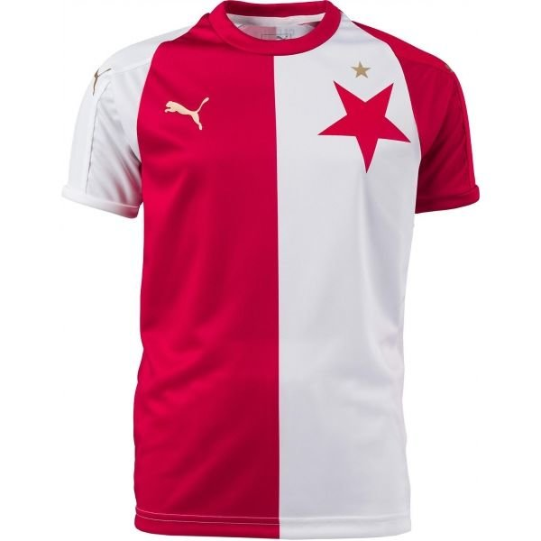 Bílo-červený dětský fotbalový dres Puma