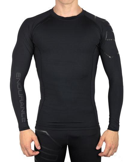 Černé pánské tričko s dlouhým rukávem Endurance